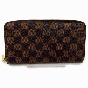 Auth Louis Vuitton Zippy Wallet Brown #7301L23